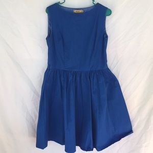 Bright blue party dress